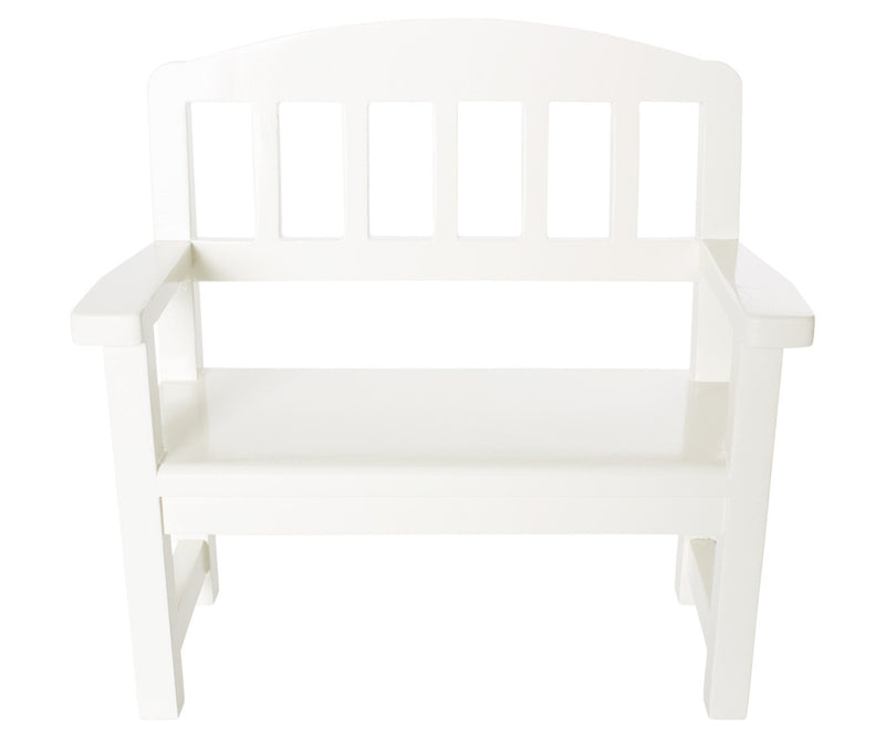 Maileg | Wooden Bench Mini Off- White-Scandikid