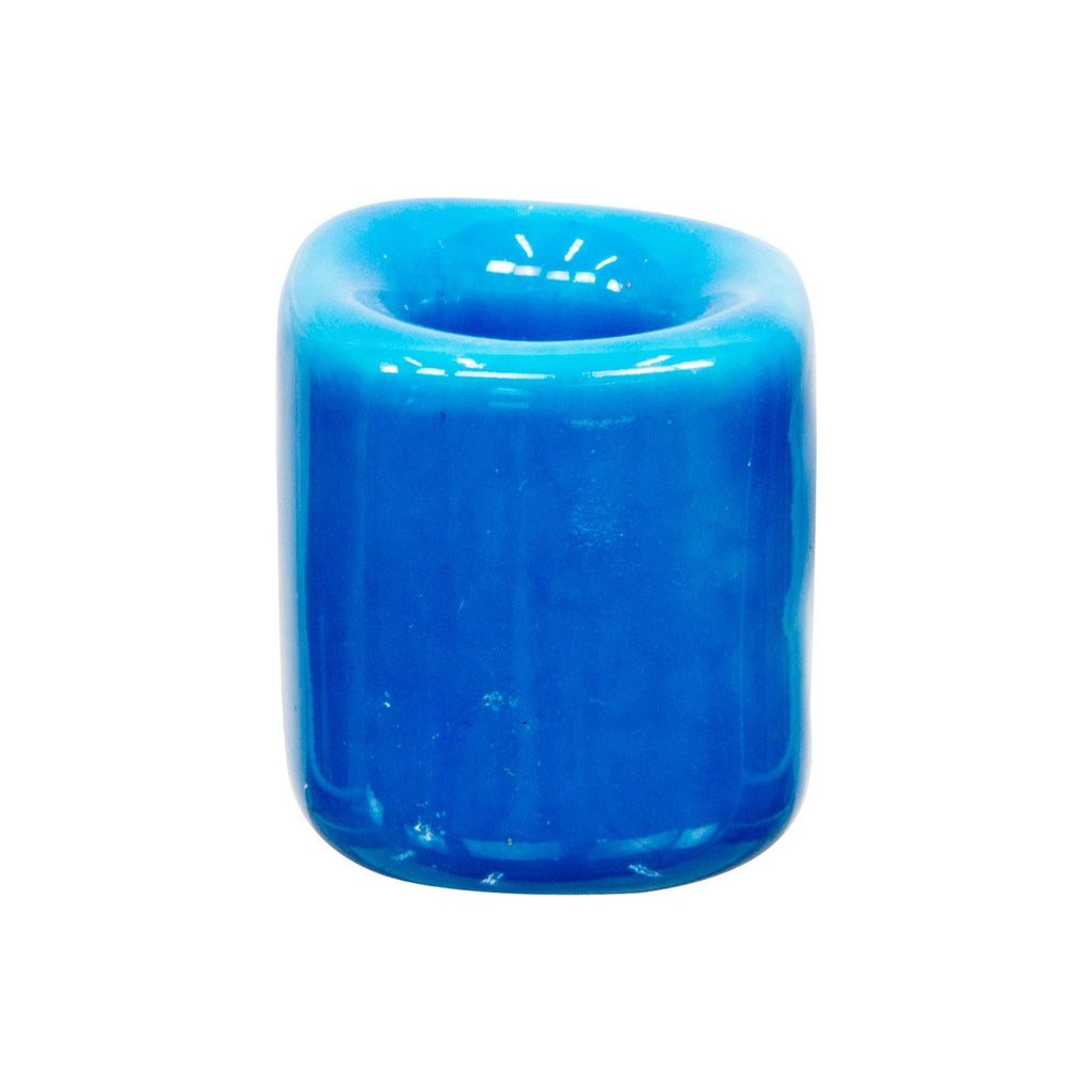 light blue chime candle holder