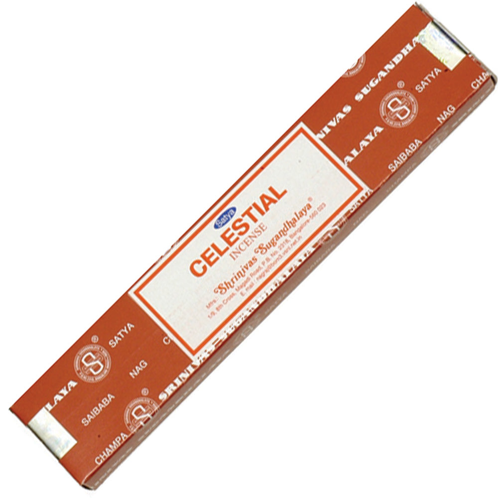 15g pack of Satya Celestial incense sticks