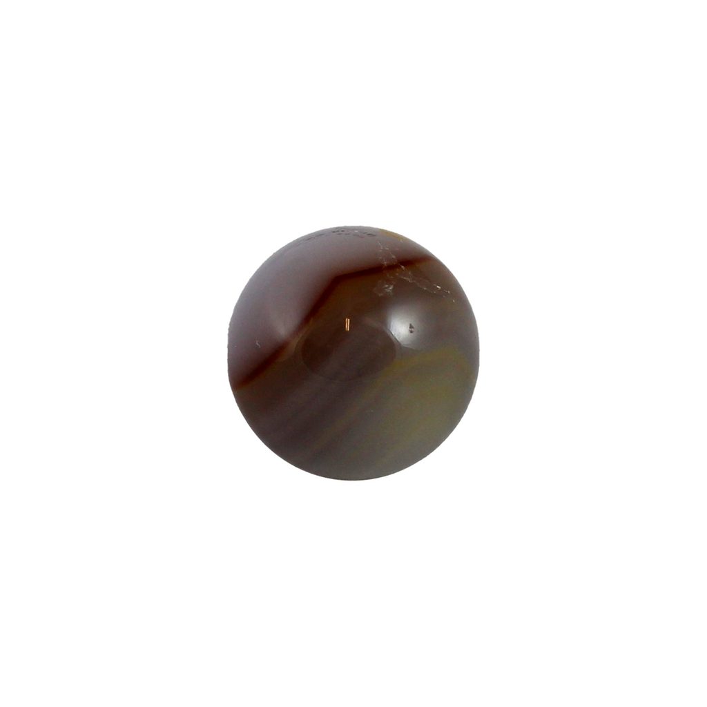 Agate sphere measuring approximately 20mm, or 0.75 inches