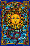 Dragon sun tapestry