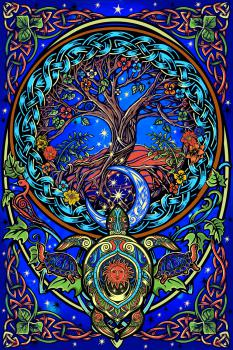 tree of life tortoise tapestry