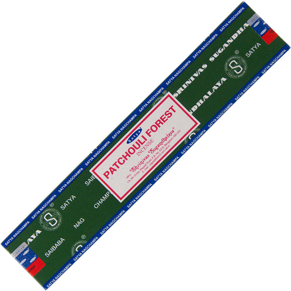 15g pack of Satya Patchouli Forest sticks
