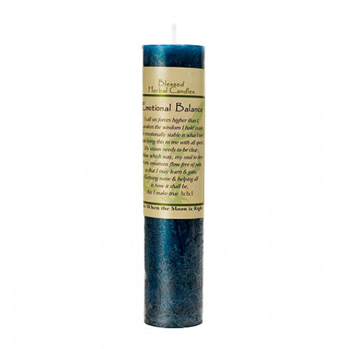 blessed herbal emotional balance candle