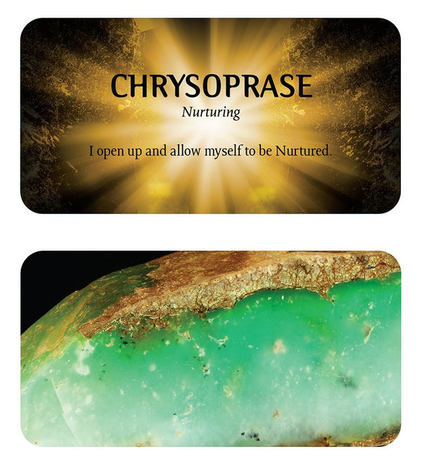 Front and back of Chrysoprase card