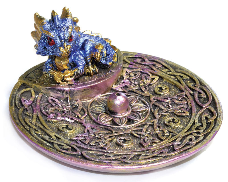 blue baby dragon incense burner