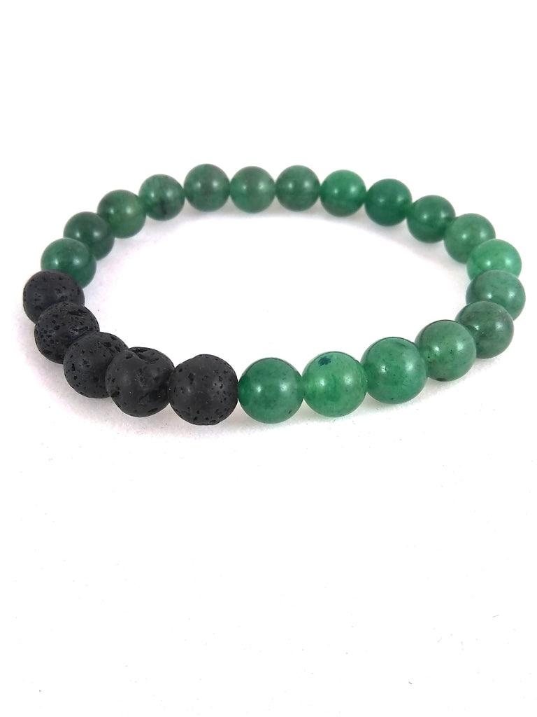 aventurine and lava bracelet