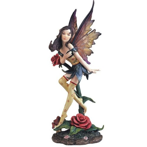 "10"" fairy with rose"