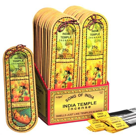 25g packs of India Temple Incense
