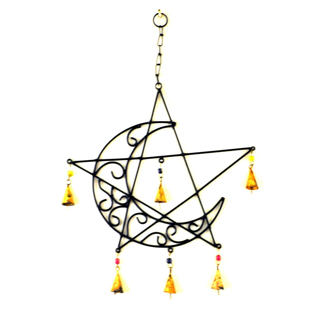 moon star wind chime