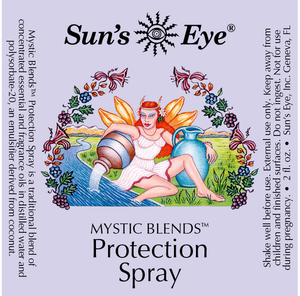 Sun's Eye Protection Spray label