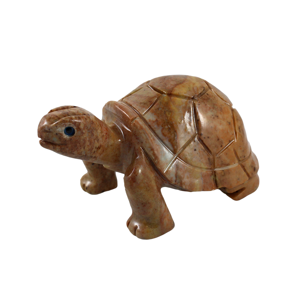Tan soapstone turtle