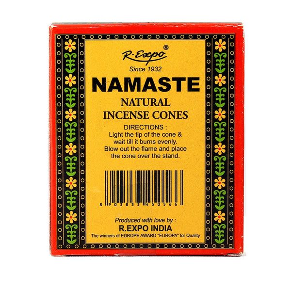 Back of Namaste Vanilla box