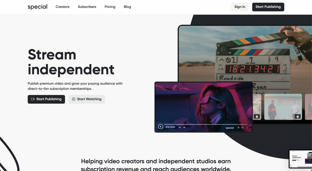 Special has a great interface for helping content creators engage with their audience