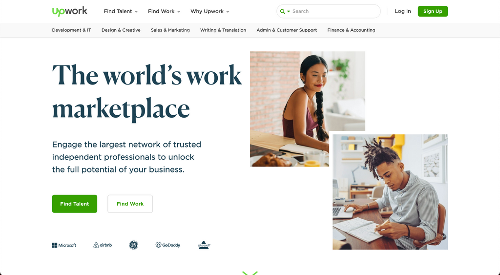Upwork is my favorite tool for hiring freelancers to help me with my projects.