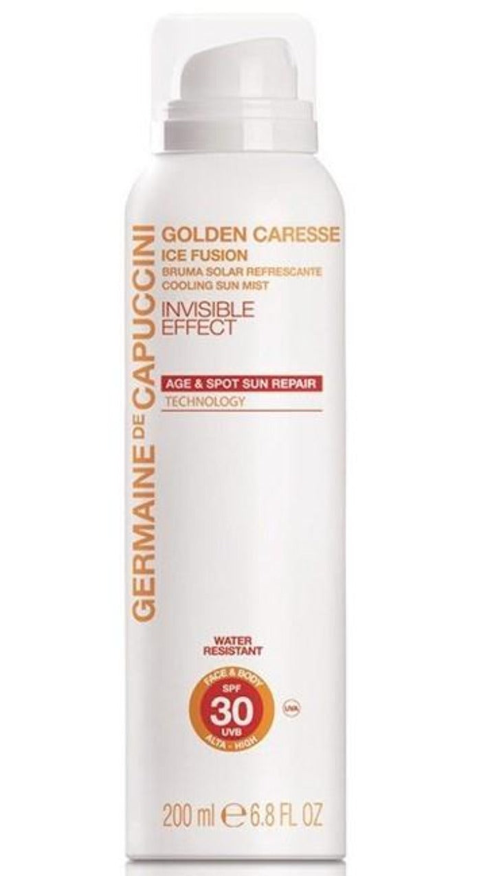 Protector solar Spray ICE Fusion SPF-30 Efecto Invisible.  Germaine de Capuccini.
