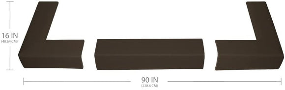Fireplace Bumper Pad - Brown