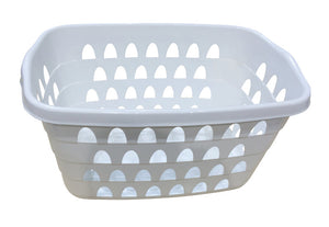 Rectangular Laundry Basket 60X40Cm White