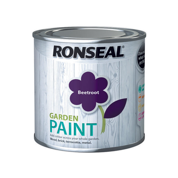 Ronseal Garden Paint 250ml Beetroot