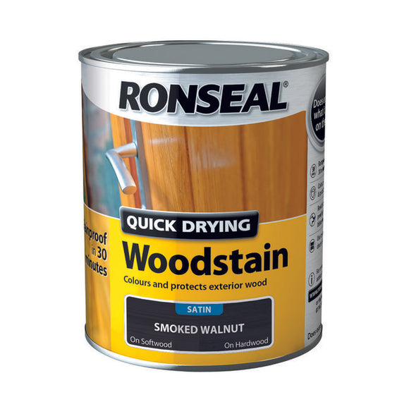 Quick Drying Woodstain 750ml Smoked Walnut