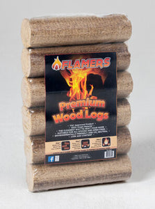 Flamers Woodlogs 6 Pack &Kiln Dried Hardwood Mesh Bags. Any mix of 6 for €25