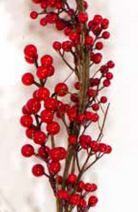 6ft / 180cm Red Berry Christmas Garland