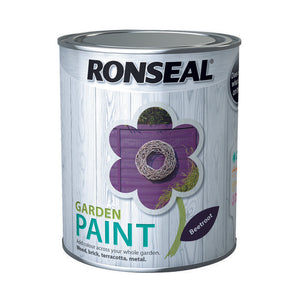 Ronseal Garden Paint 750ml Beetroot