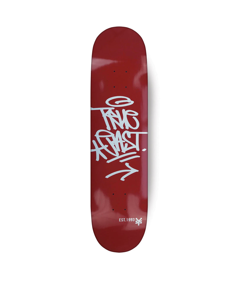 True East Tag (Red) Skateboard Deck
