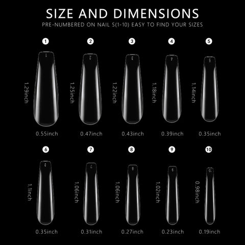 DIFFERENT SIZE OF YOUR NAILS