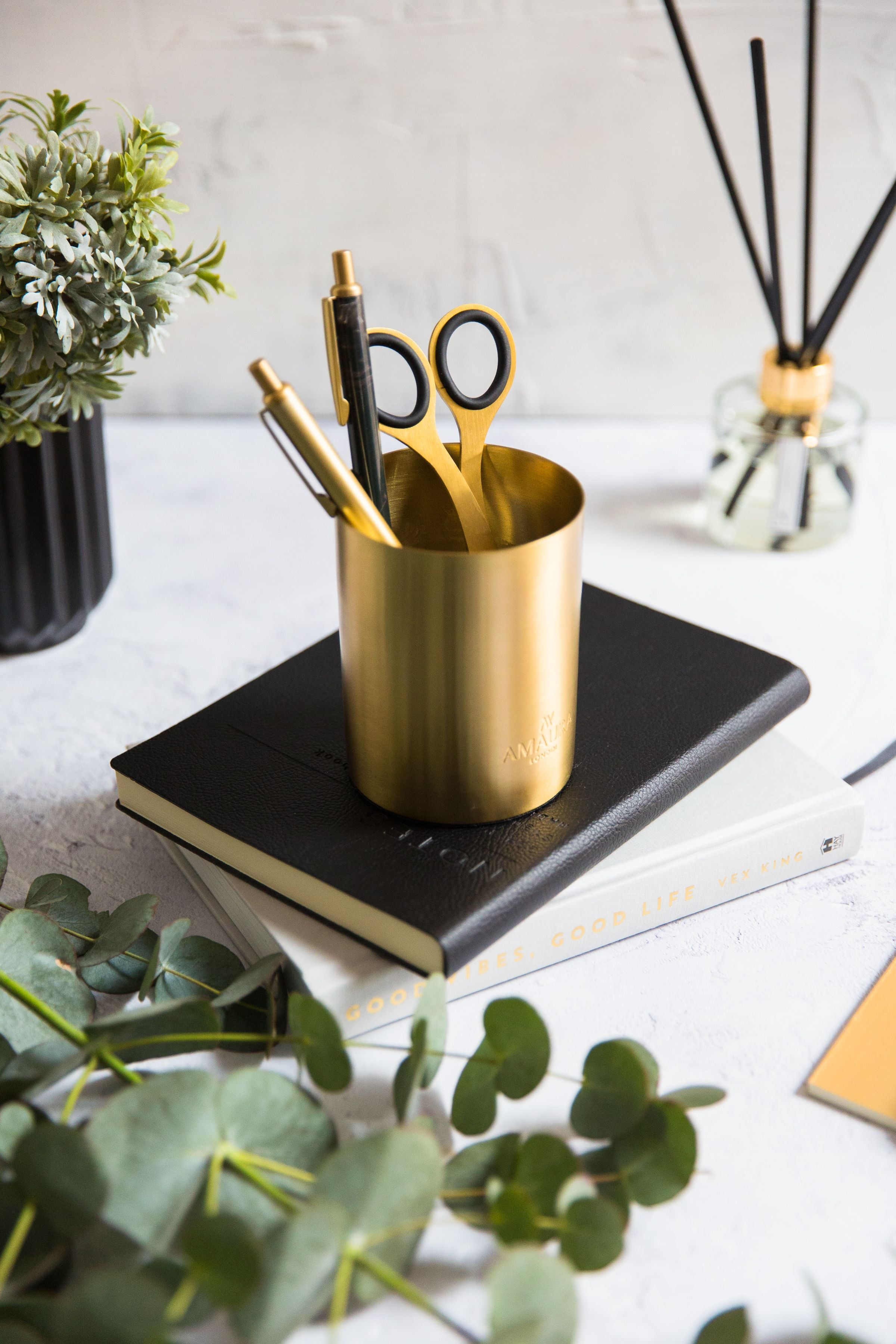 candle vessel upcycled into stationary pot