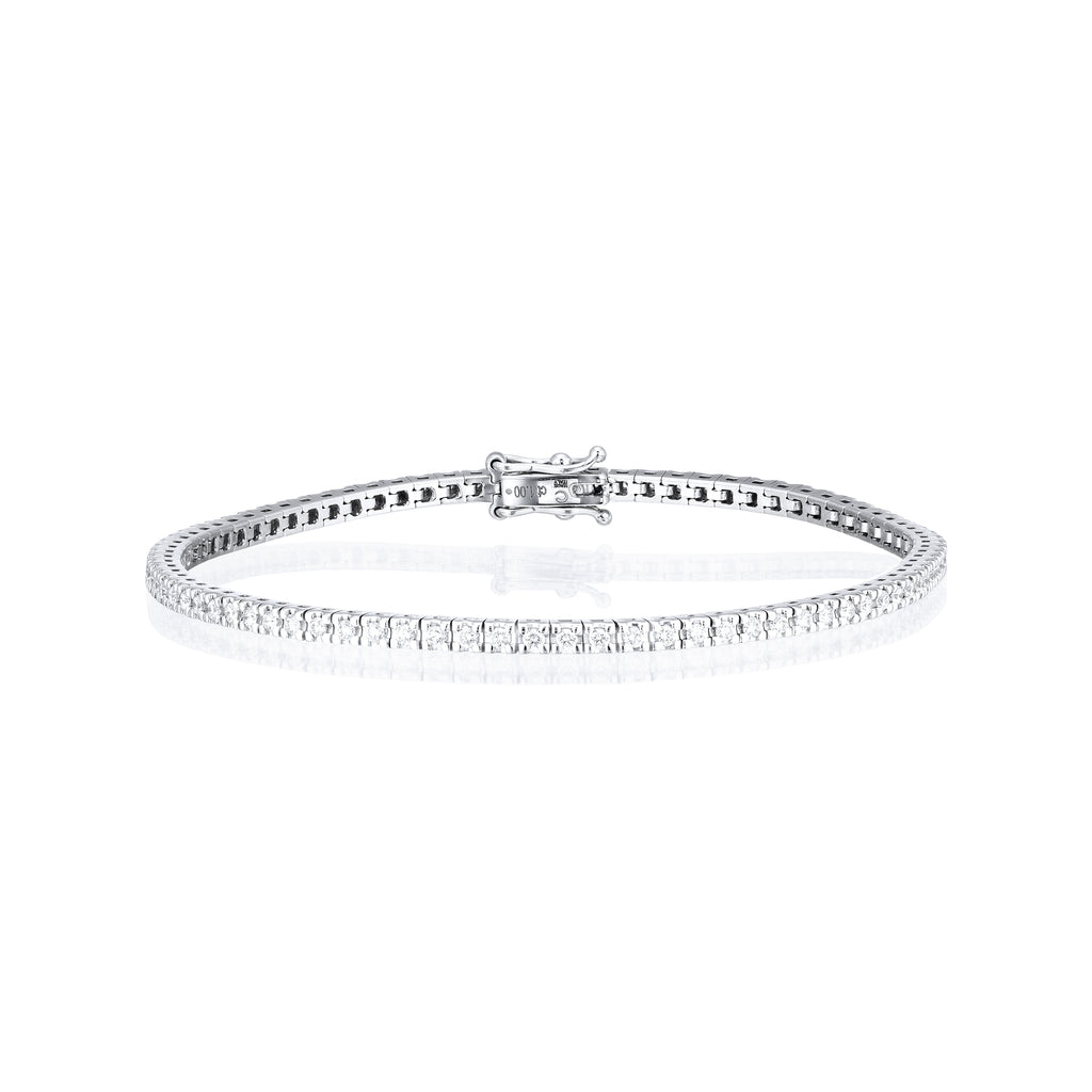 Classic 2 ct diamond tennis bracelet