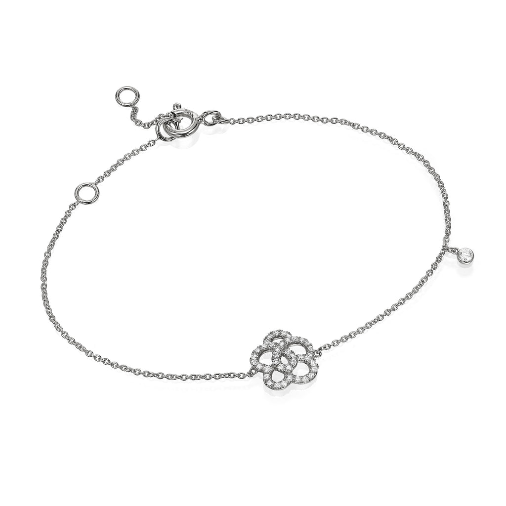 White Diamonds flower white gold bracelet