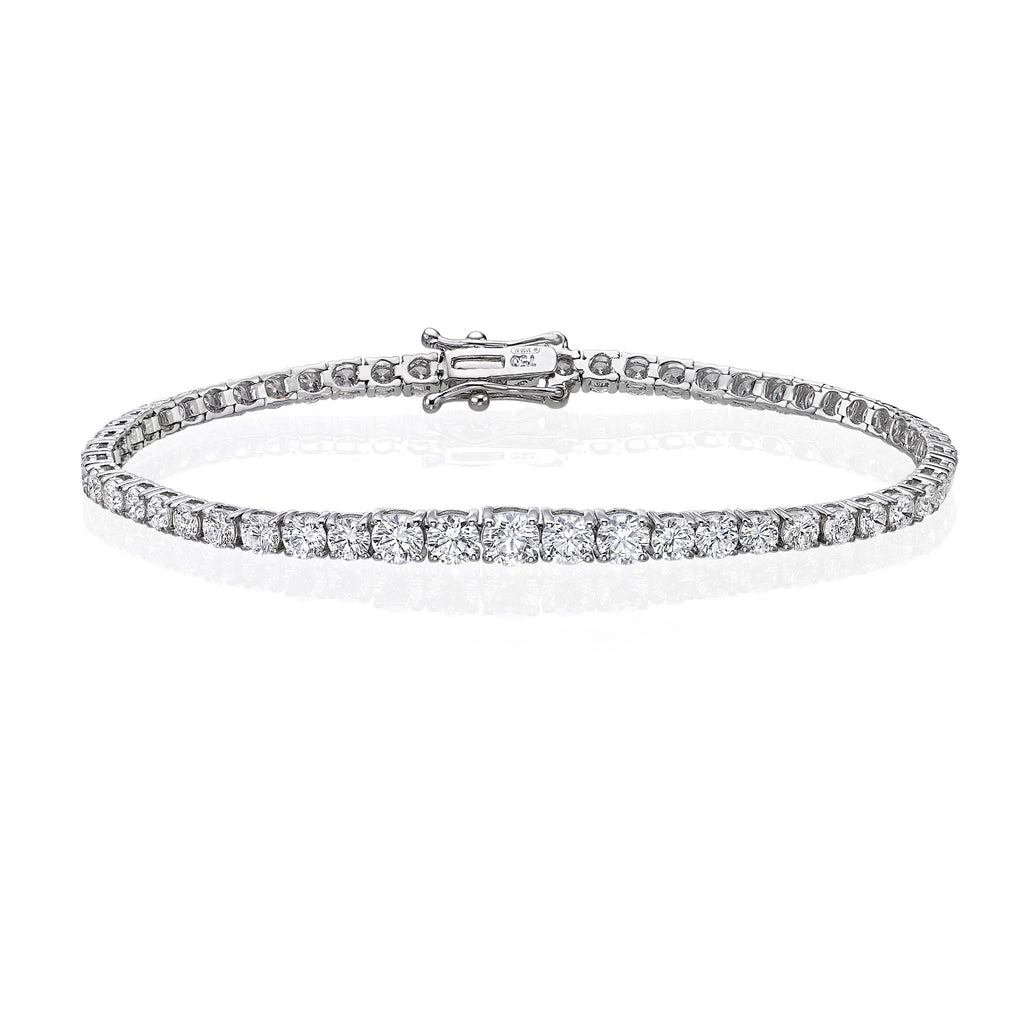 Graduated Diamond Tennis Bracelet 4.5ct