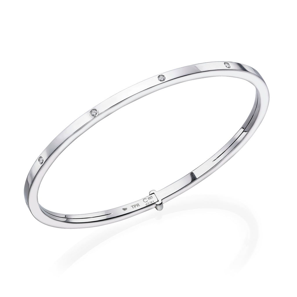 white gold rigid diamond bangle