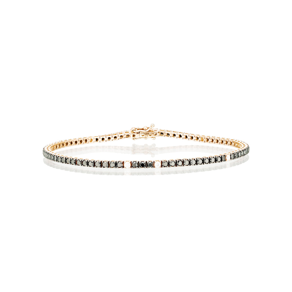 black & white diamons tennis bracelet