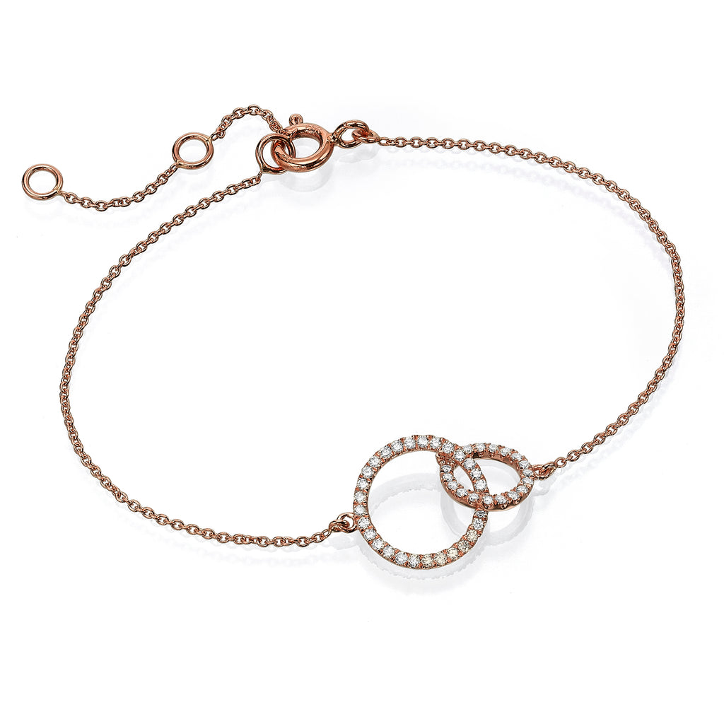 Diamond Circles Bracelet rose gold 18K