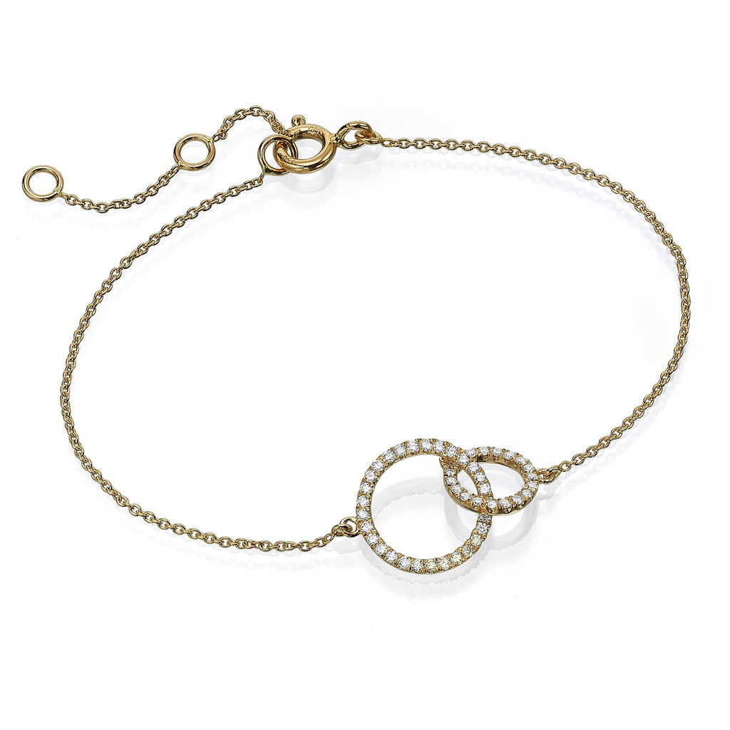 Diamond Circles Bracelet yellow gold 18K
