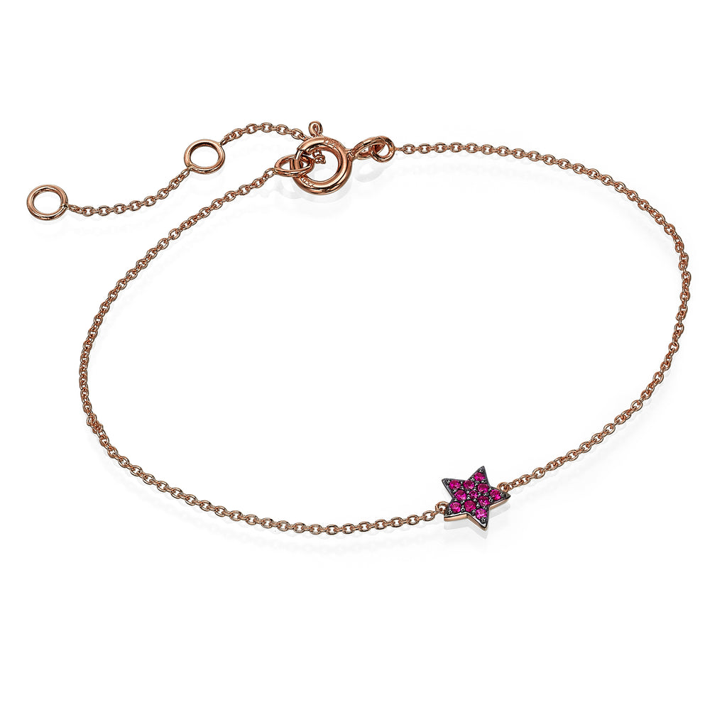 Ruby Star gold bracelet
