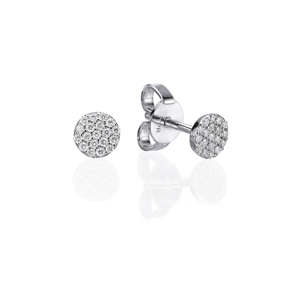Mini Pavé Stud Earrings white gold 18K