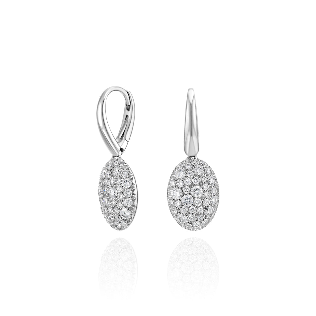 Pavé Diamond Earrings 18K Gold