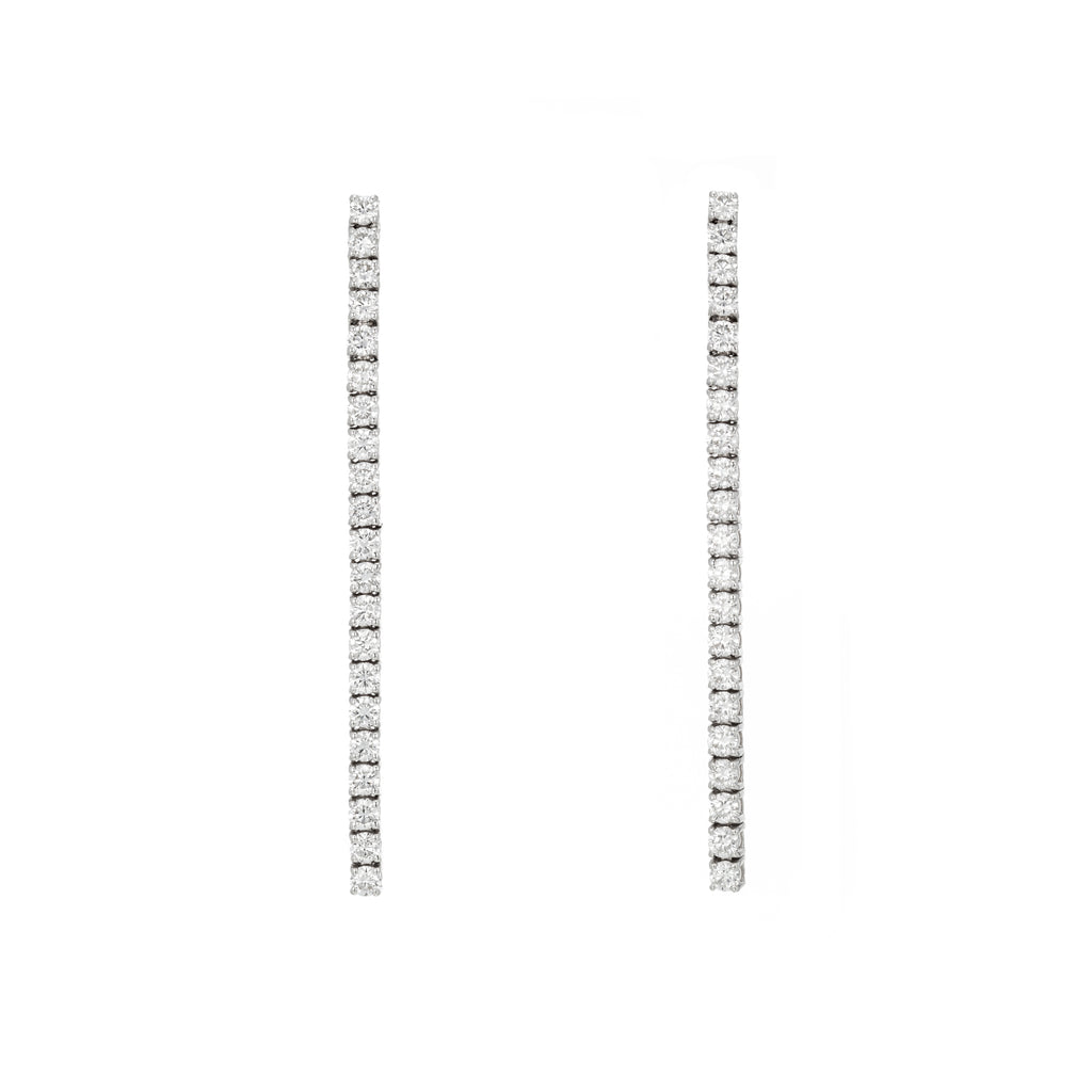 Diamond Tennis Earrings white gold 18K
