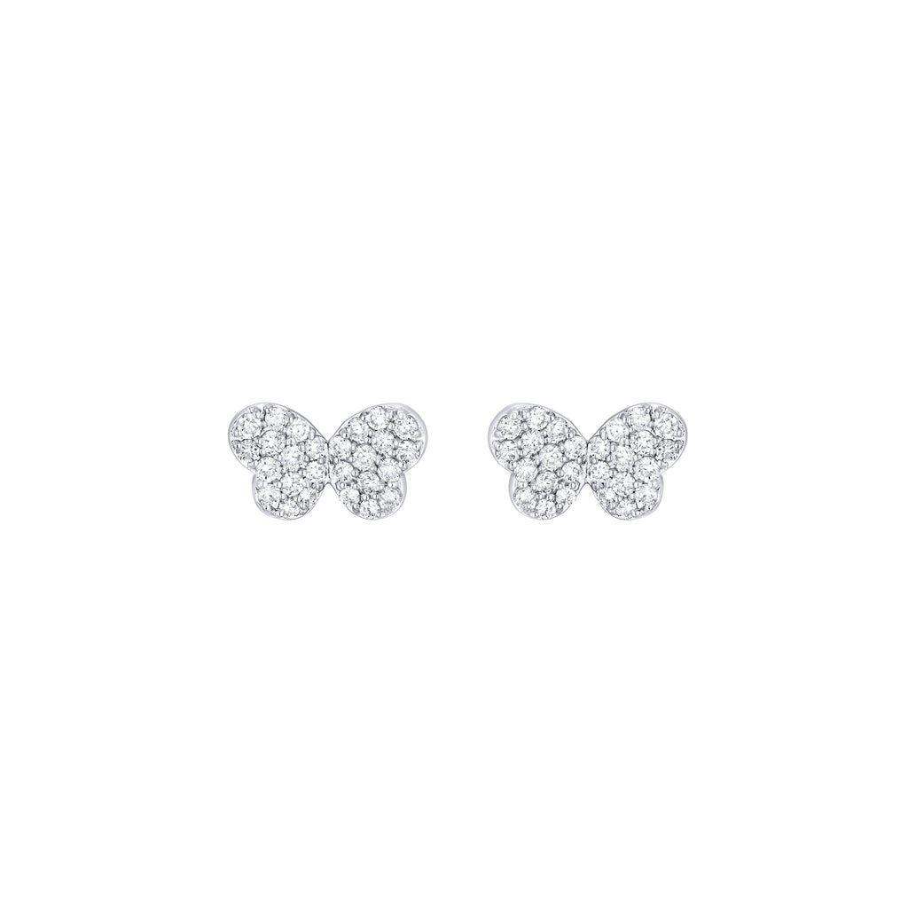 Pave Diamond Butterfy Earrings