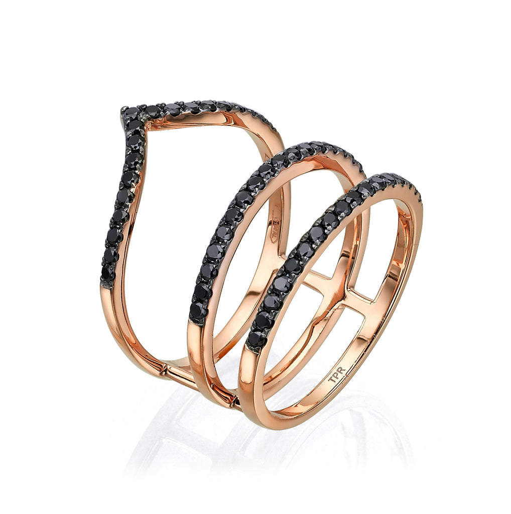 Black Diamond Sergeant Ring 18K rose gold