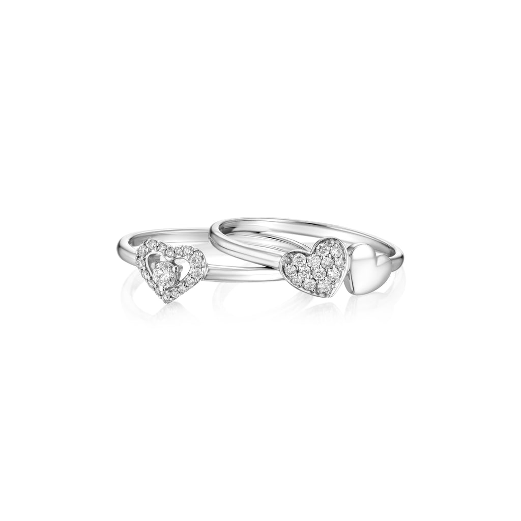 Pave Heart Ring layout white gold