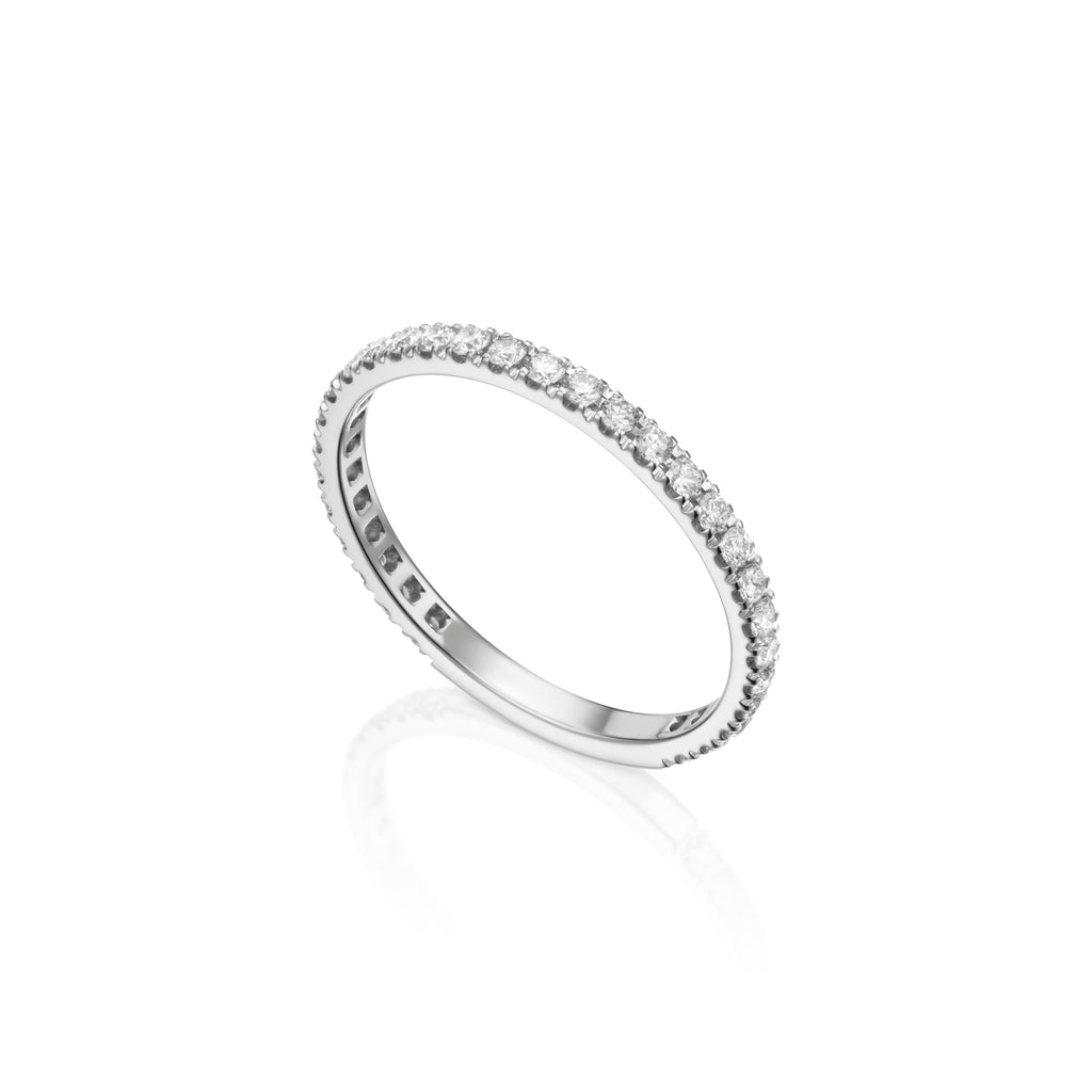 Diamond Infinity Ring White Gold