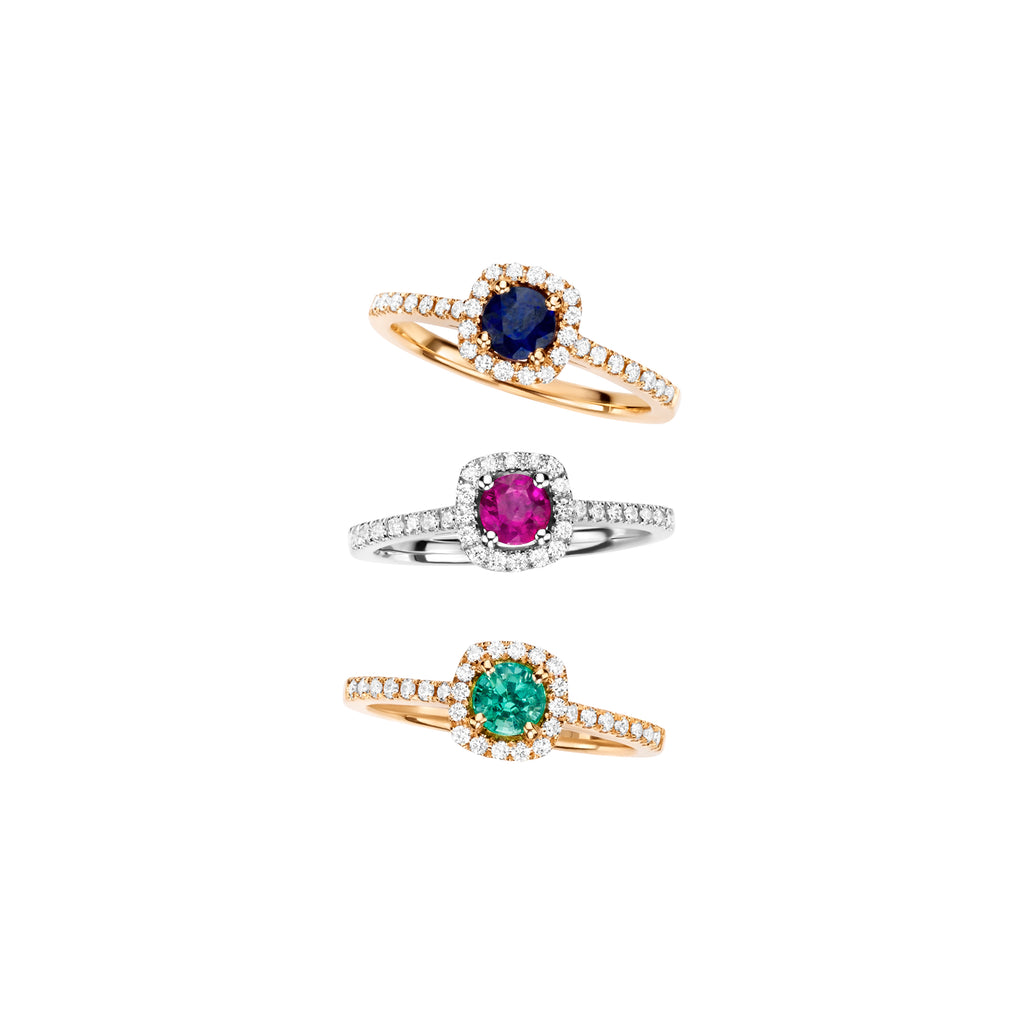 Gemstones Halo rings