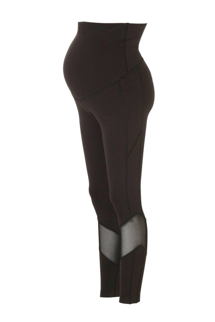Black Maternity Mesh Sports Leggings