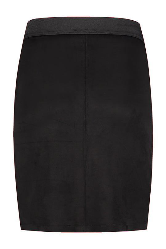 Maternity Black Suede Skirt
