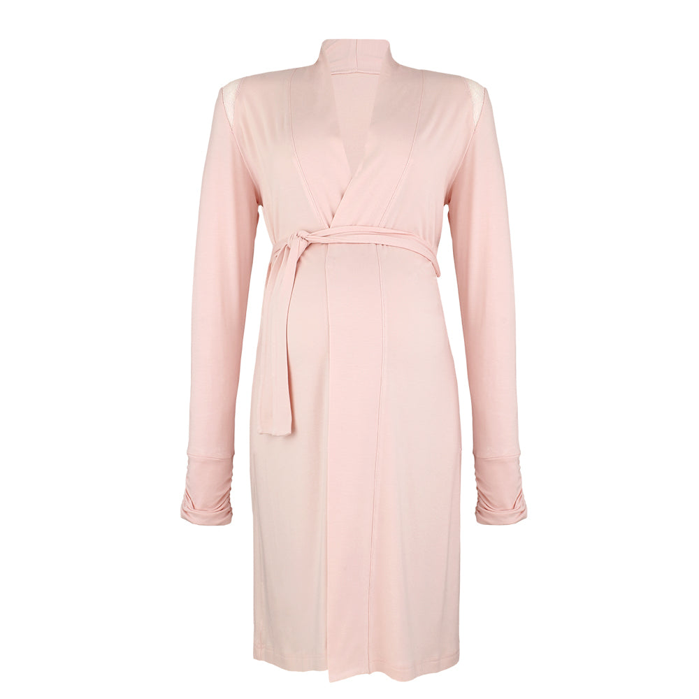 Pink Serenity Maternity & Nursing Dressing Gown