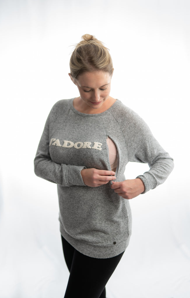 Maternity & Nursing J'Adore Jumper - Grey